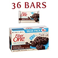 Fiber One Brownies, 90 Calorie Bar, Chocolate Fudge Brownie, 18 Fiber Bars Mega Pack, 16 oz (Pack of 2)