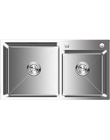 1b16af4d6 Auralum - Fregadero de Dos Senos para Cocina de Acero Inoxidable (78 x 43 x