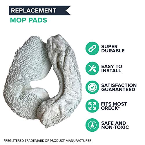 Think Crucial 6 Replacements Mop Pad Kit, Fits Oreck Steam I