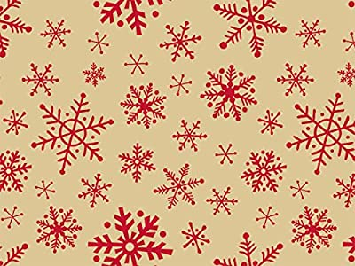 """Woodcut Snowflakes Tissue Paper240~20""""x30"""" Sheets Recycled (1 unit, 240 pack per unit.)"""