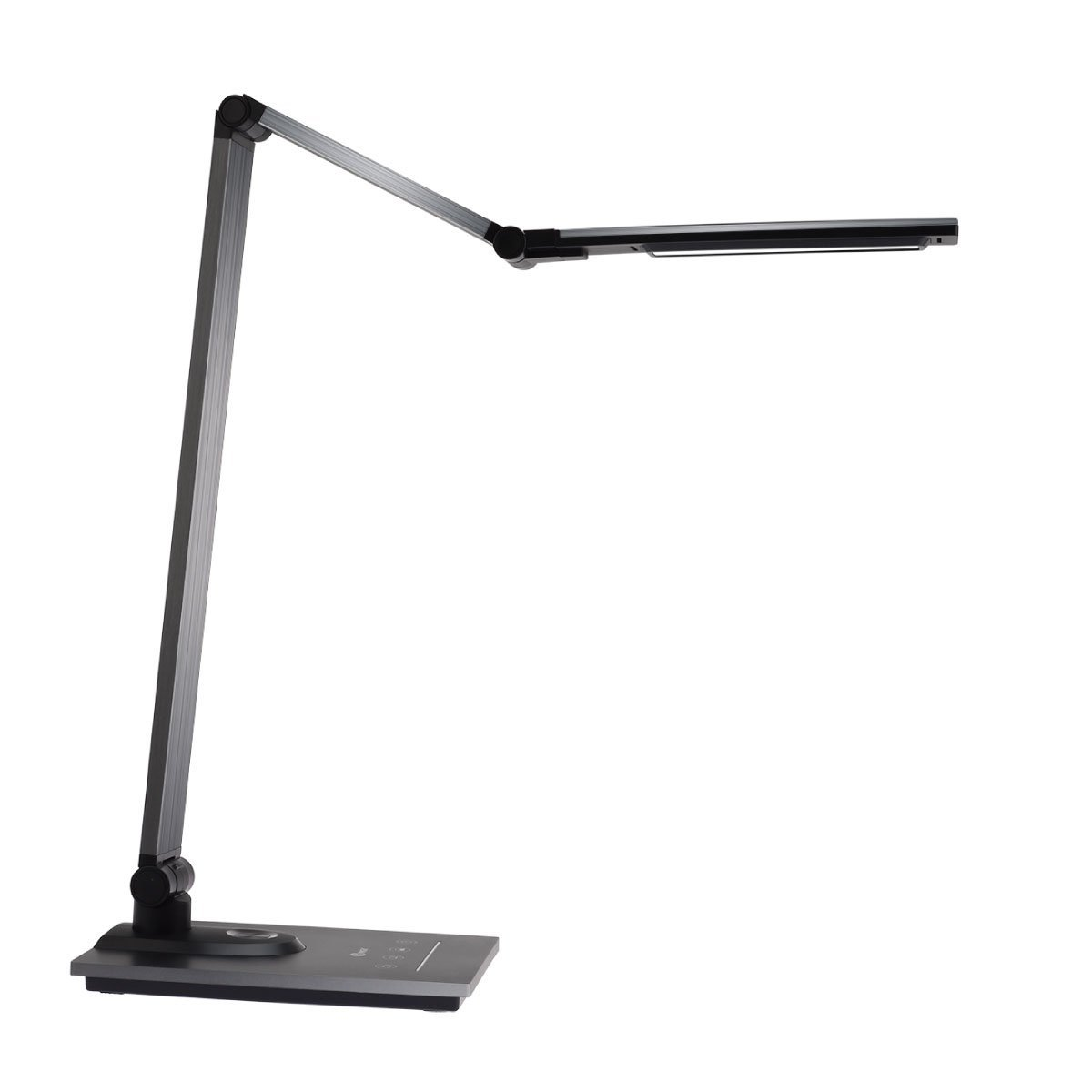 IMIGY Aluminum Alloy LED Desk Lamp with USB Charging Port, 9W Dimmable Office Lamp, Slide Touch Control with Stepless Adjustable Brightness and 3 Color Modes, Black by IMIGY (Image #2)