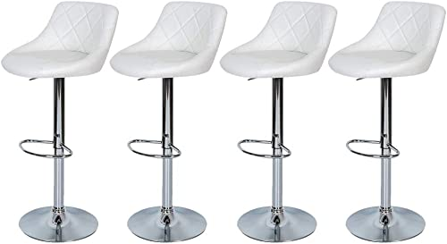 Counter Height Bar Stools Set of 4 Height Adjustable Bar Stools Swivel Stool