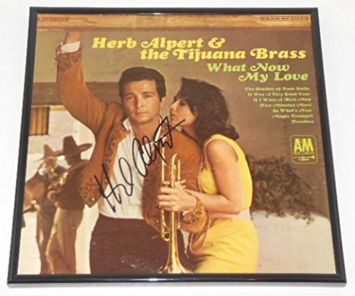 Herb Alpert What Now My Love Signed Autographed Lp Record Album with Vinyl Framed Loa from Star Gallery