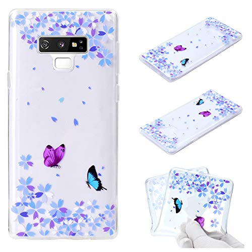 - Galaxy Note 9 Case, Note 9 Clear Soft Case Flower Pendant Design Slim Transparent Scratch Resistant Flexible TPU Bumper Cover Phone Case for Samsung Galaxy Note 9 (Flower Butterfly)
