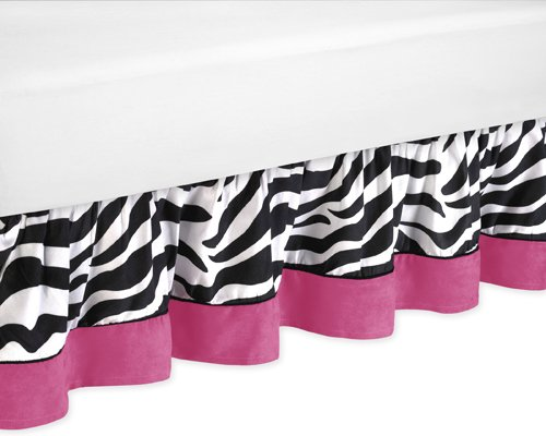 Funky Zebra Toddler Bed Skirt