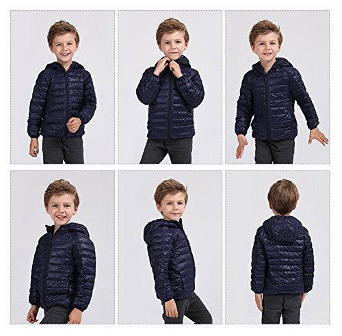 Pink 2 Kids Hoodie Winter Baby Size Baby Girls Lightweight Boys Fairy 3T Jacket Navy Down Packable Coats CZBwgq1xO