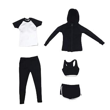 1//6 weibliche Kleidung Weste Shorts Set Kleidung für 12 /'/' Körper Figur