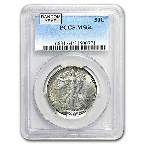 1940 1947 Walking Liberty Half-Dollar MS-64 PCGS (Random) $1 MS-64 PCGS