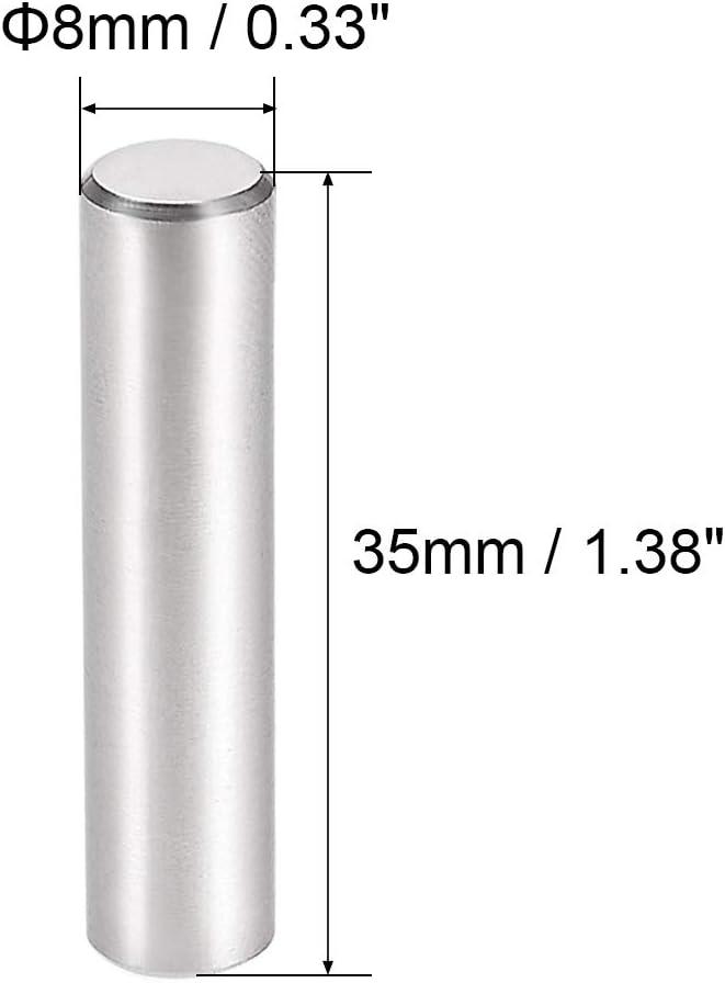 Passstift 304 Edelstahl Zylindrisch Bodentr/ägerstift 6 mm x 12 mm sourcing map 10stk