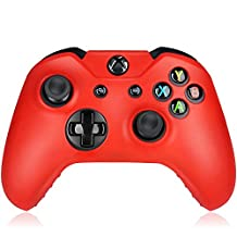 Flexible Silicone Protective Case skin For Xbox One Game Controller Console(Red)