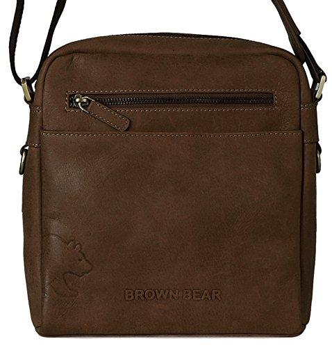 Brown Bear , Borsa Messenger  Uomo Donna Unisex adulto marrone marrone 0
