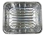 Handi-Foil Large Half 1/2 Size''Deep'' Aluminum Foil Steam Table Extra-Heavy Duty Broiler Oven Baking Cooking Pan w/Built-In Absorbent Liner (Pack of 12)