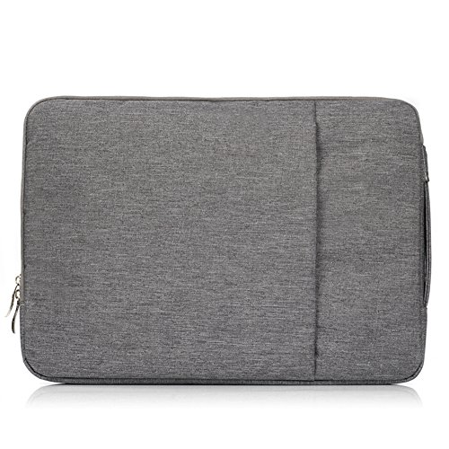 Price comparison product image FuriGer Polyester Fabric Multifunctional Sleeve Briefcase Handbag Case Cover for 13-13.3 Inch Laptop, Notebook, MacBook Air/Pro-Gray
