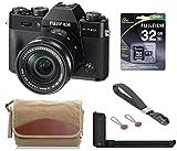 Fujifilm X-T20 Mirrorless Digital Camera, w/XC 16-50mm f/3.5-5.6 Lens Black, 24.3MP, 4K UHD Video, Bundle with Fujifilm Metal Hand Grip + Canvas Camera Bag + Peak Design Wrist Strap + 32GB SD Card