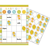 Party Central Club Pack of 60 Yellow and White Happy Jungle Wild Safari Baby Shower Bingo Theme 10""