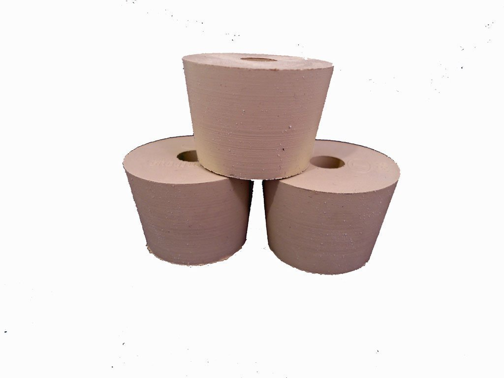 Drilled Rubber Stopper #6 (Set of 3) Home Brew Stuff 3827