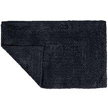 Lavish Home 67-0018-Black Reversible Bath Mat