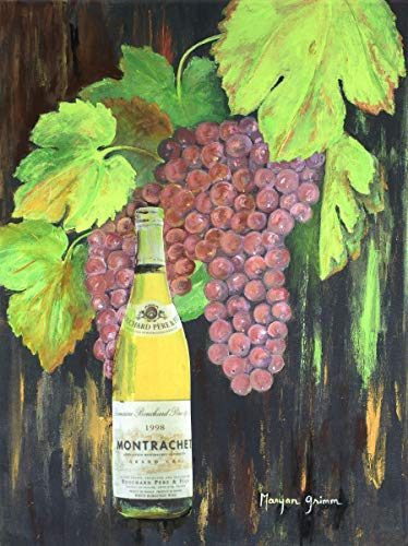 Syrah Grapes - Original Painting on Canvas fine Art -