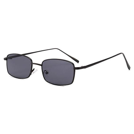 juqilu Mujeres Hombres Retro Pequeñas Gafas de Sol Ovales Gafas de Metal UV400 YdrOPEq