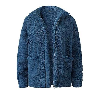Women's Long Sleeve Thick Hooded Open Front Cardigan Parka Overcoat Fleece Jacket Coat: Clothing