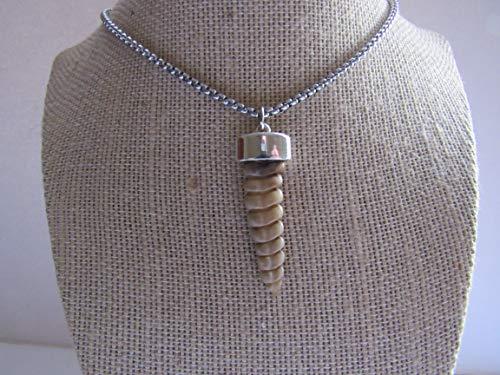 Rattlesnake Rattler Pendant Snake Necklace Spirit Animal Bone Jewelry Boho N500