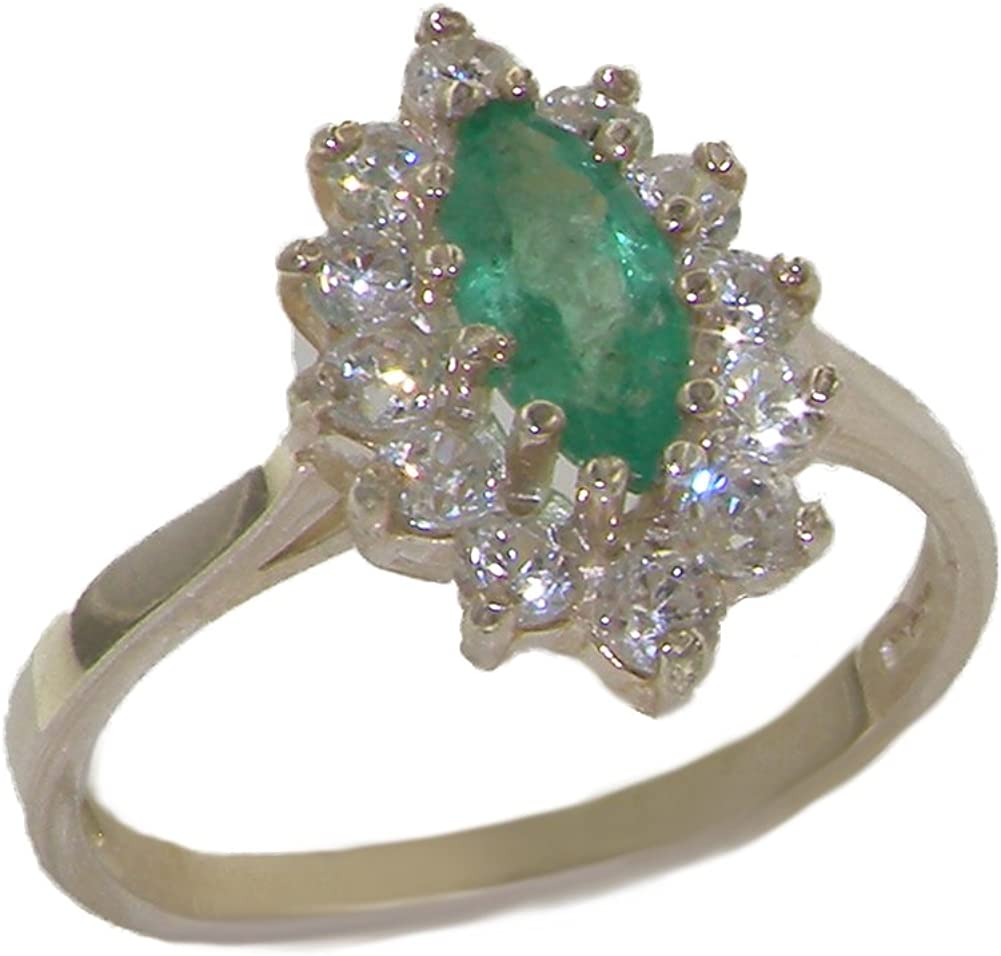 Details about  /925 Sterling Silver Cluster Ring Natural Gemstone Anniversary Gift Ring For Her