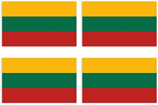 Kiwistar Aufkleber 4 5 X 2 7 Cm Litauen Land Staat Autoaufkleber Flagge Länder Wappen Fahne Sticker Kennzeichen Auto