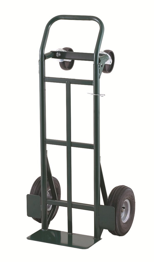 Harper Trucks 400 lb Capacity Super-Steel Convertible Hand Truck Dual Purpose 2 Wheel Dolly and 4 Wheel Cart with 8 Flat-Free Solid Rubber Wheels