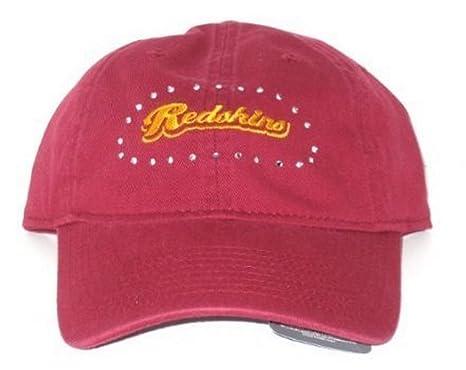 NFL Officially Licensed Washington Redskins Women s Rhinestone Adjustable  Hat 4c11beb4f