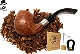 "Pipesmith-""The Sherlock"" Premium Rosewood Tobacco Pipe w/Smoking Pipe Accessories Model No.1 9mm"
