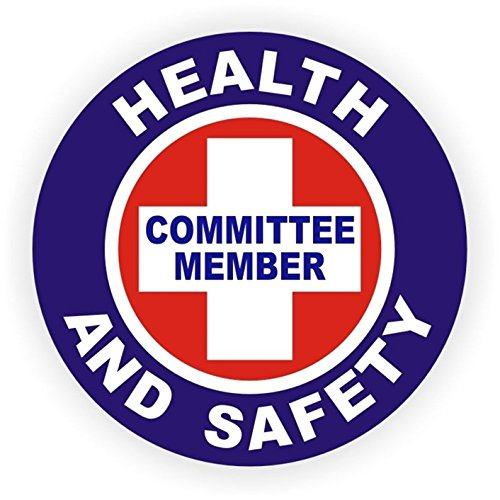 1-Pc Grand Unique Health And Safety Committee Member Window Stickers Mac Macbook Laptop Luggage Wall Graphics Helmet Shock Decals Decor Vinyl Art Sticker Decal Patches Size 2