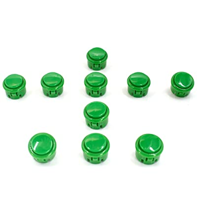 10 Pcs 30mm Push Buttons Sanwa for OBSF-30,OBSC-30,OBSN-30 Arcade DIY Kits Parts Mame Jamma Green