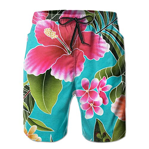 ZADEAS Man Casual Classic Fit Funniest Hawaii Style Flower Quick-drying Board Shorts