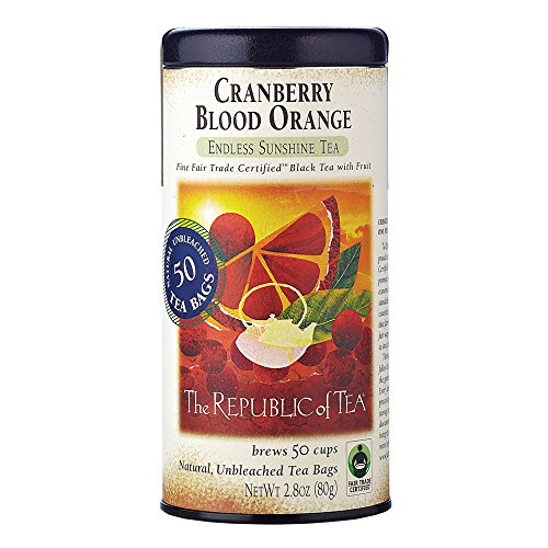 - Republic Of Tea, Tea Cranberry Blood Orange Whole Trade Guarantee, 50 Count
