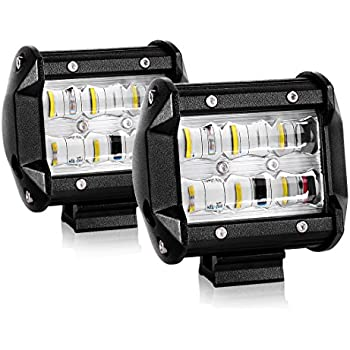 Amazon autosaver88 4 led light bars 9d 36w 3600lm pods spot autosaver88 4 led light bars 9d 36w 3600lm pods spot flood combo beam aloadofball Image collections