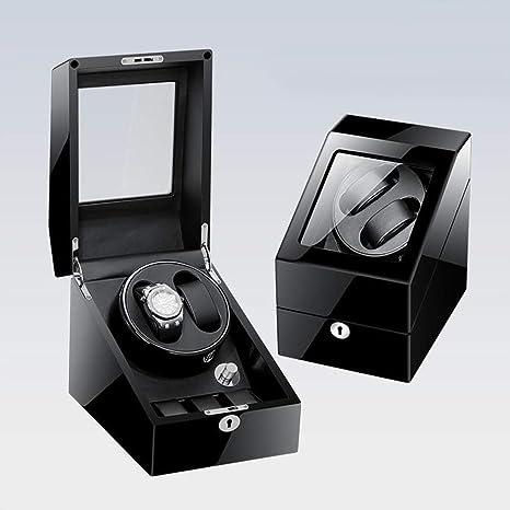 BHXUD Mecánica Reloj Automático Sacudiendo Cuadro Tabla Balanceo Acorde Cuadro De Reloj,Black