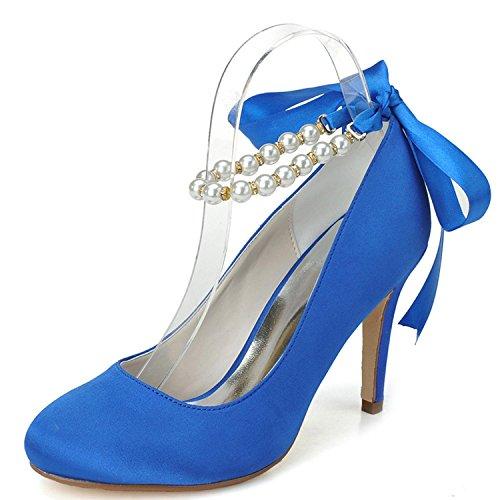 5623 Nozze Da 08 Alti Più Donne Party Sera Tacchi amp; Disponibili Colori Yc Delle Scarpe Blu L Sposa zxRdzv