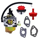 FitBest Snowblower Carburetor for HUAYI 170S 170SA 165S 165SA with Primer Bulb Fuel Filter