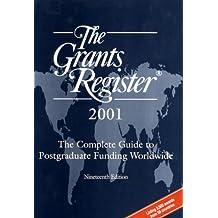 The Grants Register, 2001
