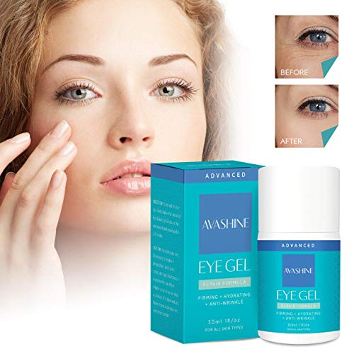 51T03fxs5ZL - Avashine Natural Eye Gel for Dark Circles, Puffiness, Wrinkles and Eye Bags, Hydrating Eye Serum, Effective Anti-Aging Eye Gel for Under and Around Eyes