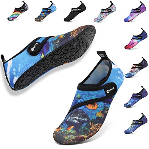 - VIFUUR Womens Mens Water Shoes Adjustable Aqua Socks for Outdoor Swimming Beach Strap Deepsea 40/41