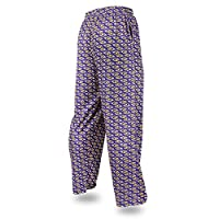 Zubaz NFL Baltimore Ravens Men's Team Logo Print Comfy Jersey Pants, Small, Purple