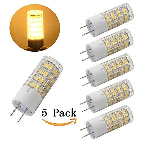 Xenon White Halogen Bulbs (Anylight-5-pack G8 LED Bulb 120V - T4 G8 Base Bi-pin Xenon JCD Type LED Halogen Replacement Bulb 50W Equivalent Warm White 3000K …)