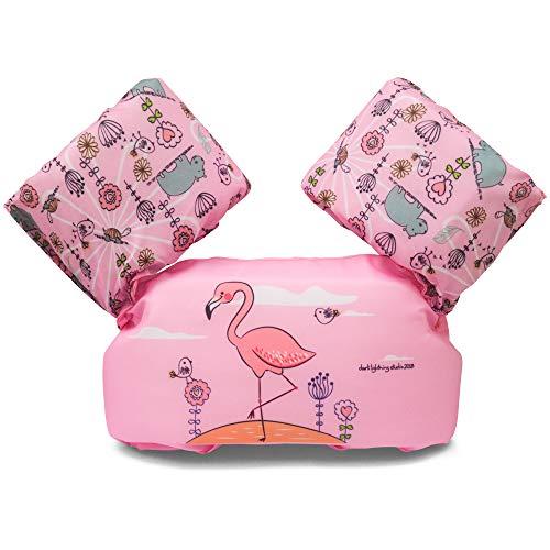 Dark Lightning Kids Float Vest for Swimming Pool,Life Jacket for Baby/Infant / Toddler 30lbs to 50lbs (Flamingo) by Dark Lightning
