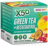 Green Tea X50 + Resveratrol 90 Serve Assorted by Green Tea X50 - Size: 1 Box (90 x 3g Sachets) - Color: Assorted