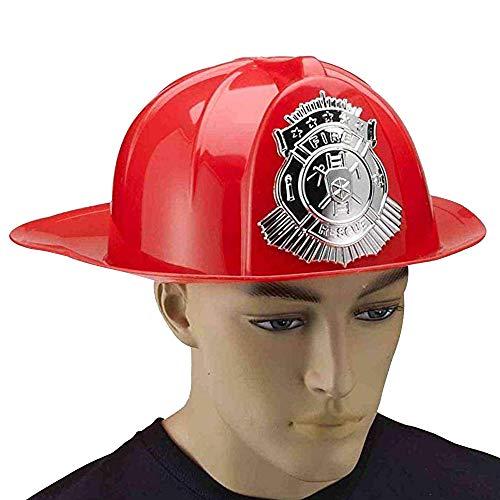Forum Novelties Party Supplies Men's Deluxe Fireman's Helmet, Black, Standard -