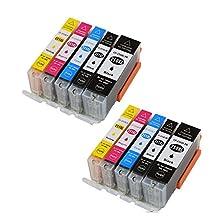 Colour-store 10 Pack Ink Cartridges for Canon 251 250 Pixma iP7220 iX6820 MG5420 MG5422 MG5520 MG5522 MG5620 MG6420 MG6620 MX722 MX922