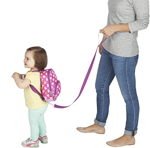 Amazon Com Nuby Quilted Baby Backpack With Safety Harness Pink