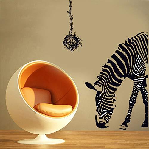 MEIWALL Dormitorio creativa tienda de ropa cálida Puerta Zebra Pegatinas de pared extraíble para del dormitorio de la de la cocina Sala de niños Decoración ...