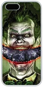 iPhone 5 5S Cases Hard Shell White Cover Skin Cases, iPhone 5 5S Case Joker Smile